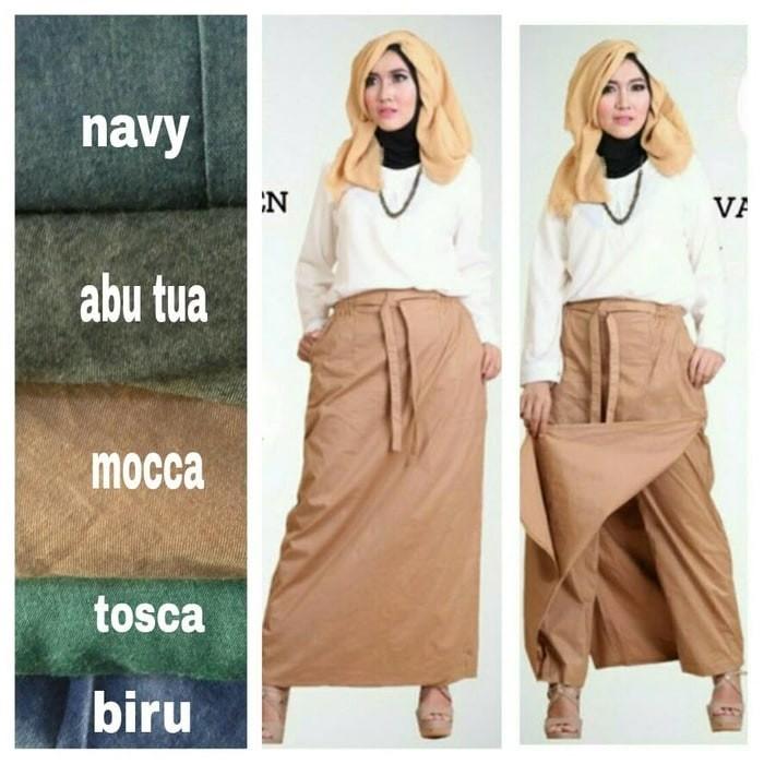 Cj collection Celana batik kulot panjang wanita jumbo long pant Sarah Source PROMO .