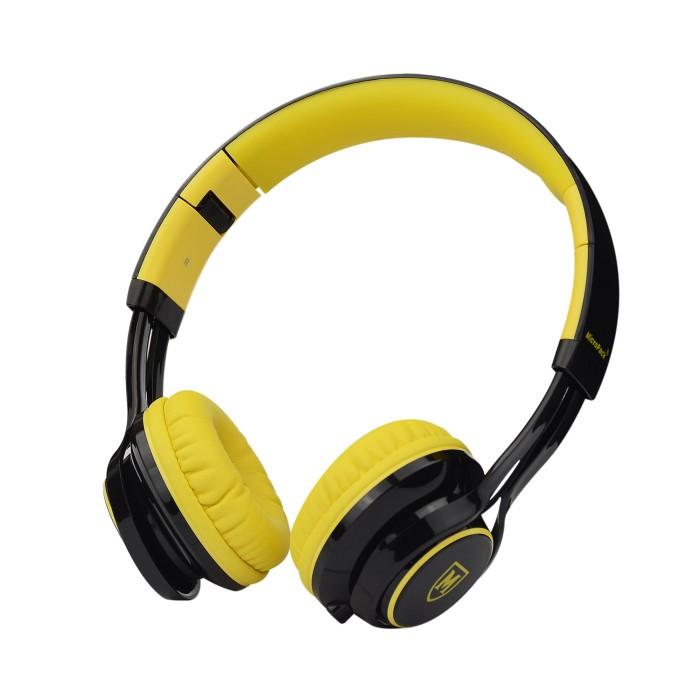 micropack headphone w/mic mhp-500 yellow