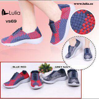 harga Lulia vs69  unisex sepatu rajut wanita pria  ori anyaman slip on flat Tokopedia.com