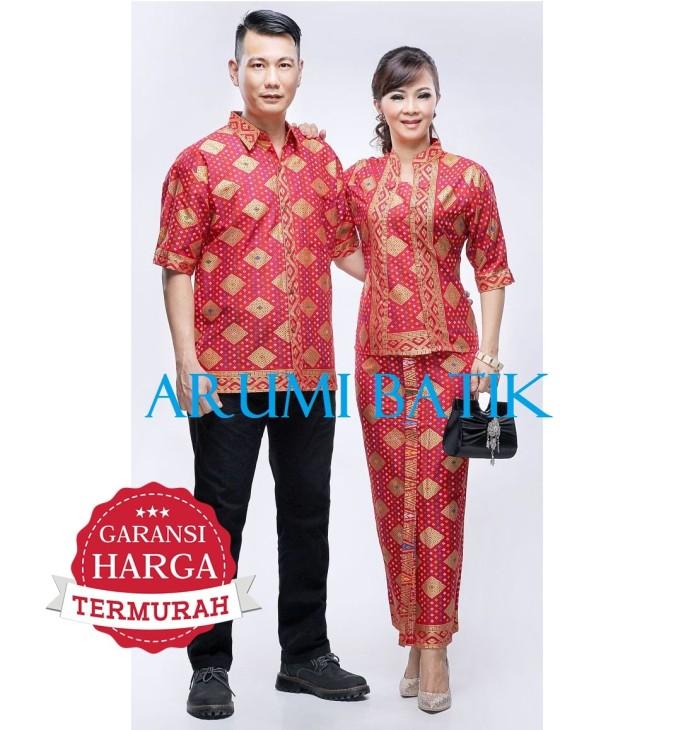 harga Sarimbit pasangan couple seragam pria wanita setelan batik 2086 merah Tokopedia.com