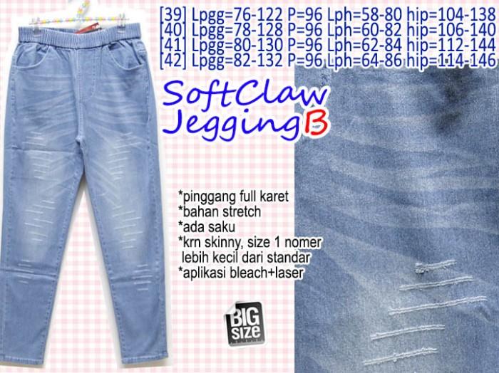 ... harga Soft claw jegging b celana jeans biru basic super bigsize 39 40  41 42 Tokopedia 6b5aafa416