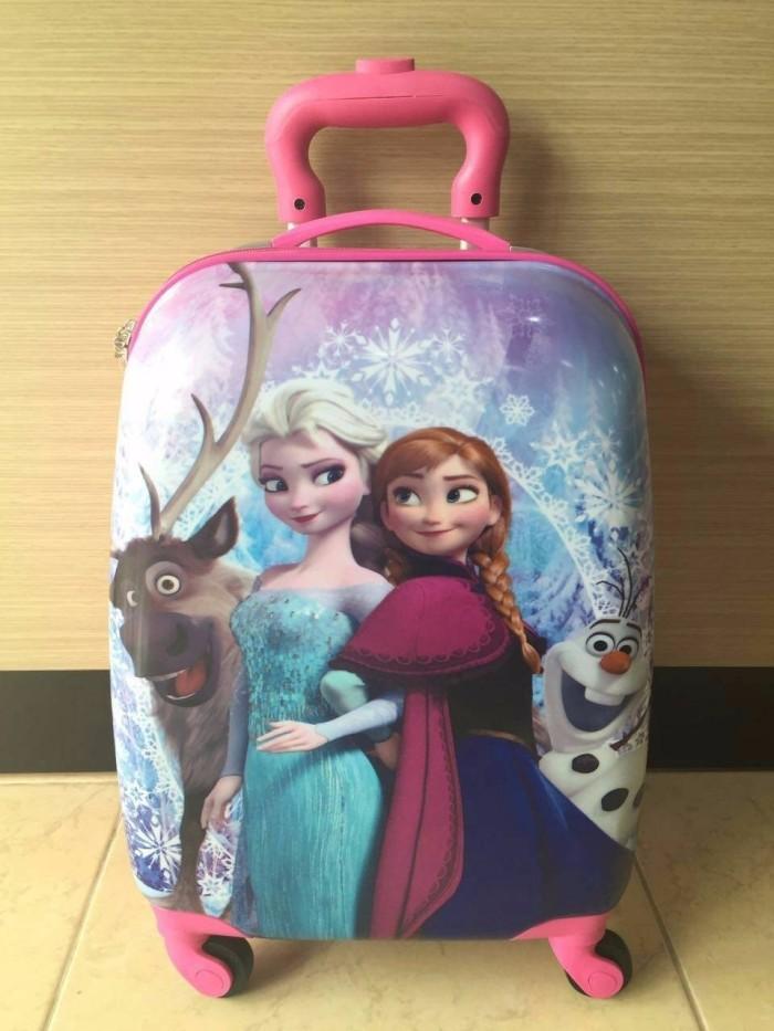 Diskon Tas Koper anak Anak Fiber Frozen Elsa Rusa 16 Inch