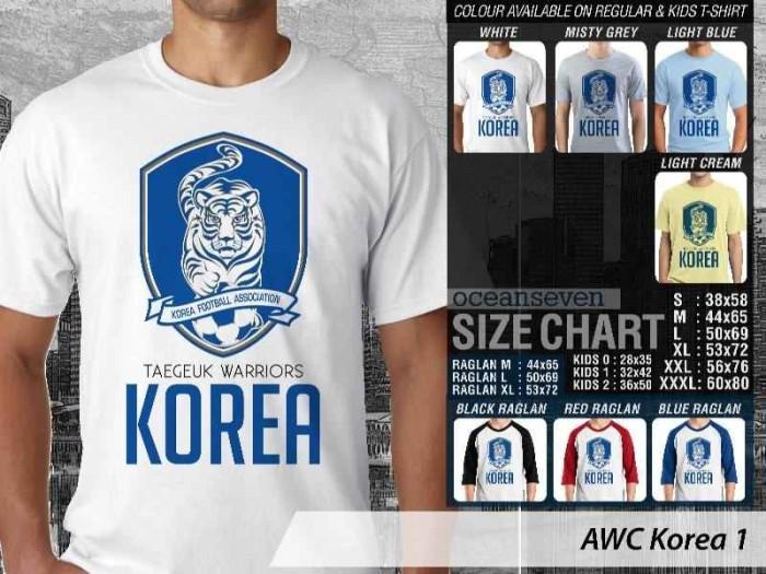 AWC Korea 1 - BAJU KAOS DISTRO PRIA WANITA BOLA OCEAN SEVEN
