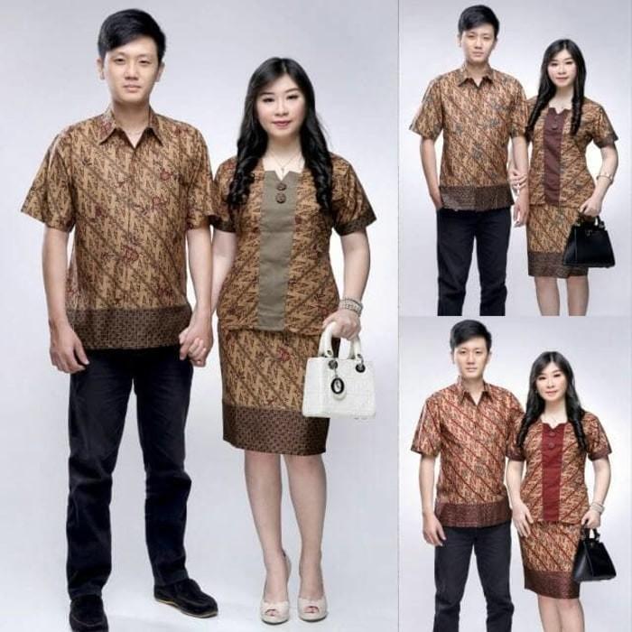 Jual Baju Batik Kerja Modern Batik Couple Modern Terbaru Sarimbit Rok Blus Kota Surakarta Bajubatiksolo Tokopedia
