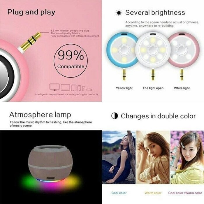harga Beauty speaker + led selfie (lampu disco) Tokopedia.com