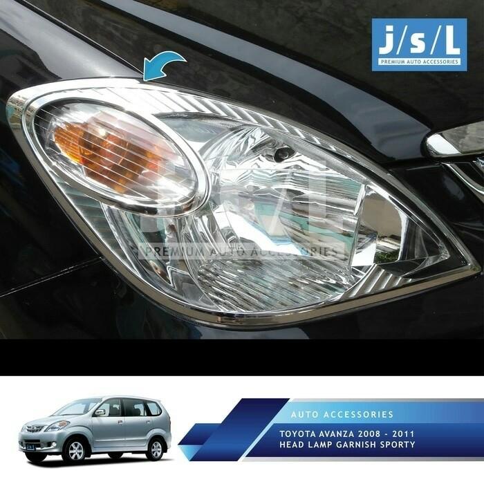Garnish Lampu Depan Avanza 2005 2011 Chrome