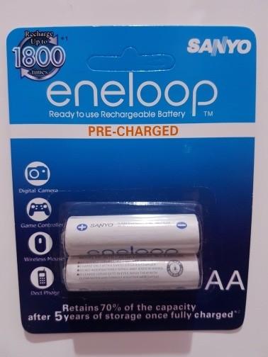 baterai sanyo eneloop AA rechargeable 2000maH