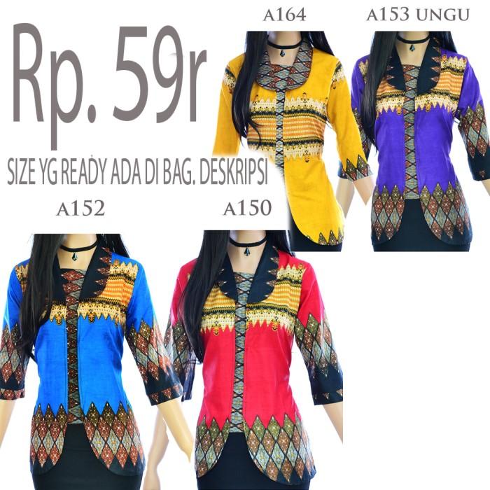 harga Atasan blouse batik wanita motif songket a150a152a153a164 Tokopedia.com