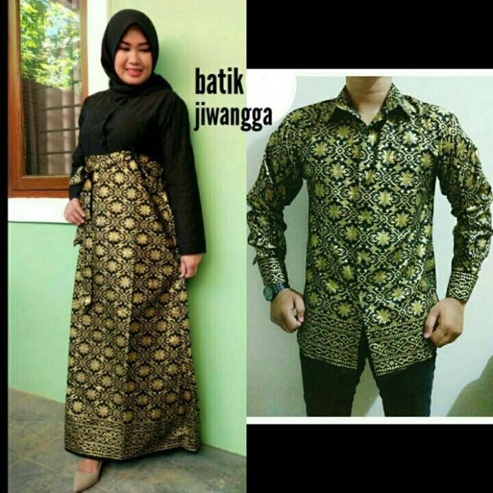 Jual Miliki Sekarang Juga Couple Batik Prada Gamis Gold Kombinasi