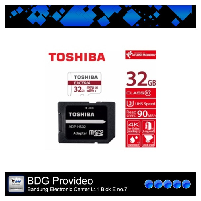 harga Toshiba exceria micro sd class 10 32gb 90mb with adapter Tokopedia.com