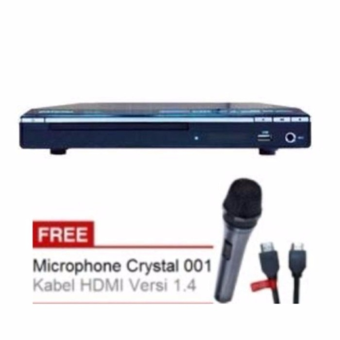 harga Dvd Player Crystal 635  Usb | Hdmi Port Bonus Hdmi Cable Free Mic Tokopedia.com