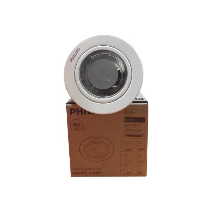 harga Philips downlight essential / kap rumah lampu + cover 2.5  putih Tokopedia.com