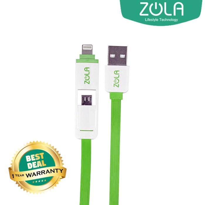 Zola International Kabel Data & Charging 2 in 1 - Green