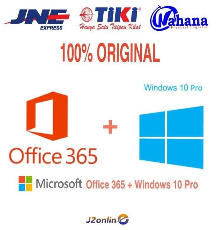 harga Lisensi Paket Windows 10 Pro Dan Office 365 + 1 Tb - Original Tokopedia.com