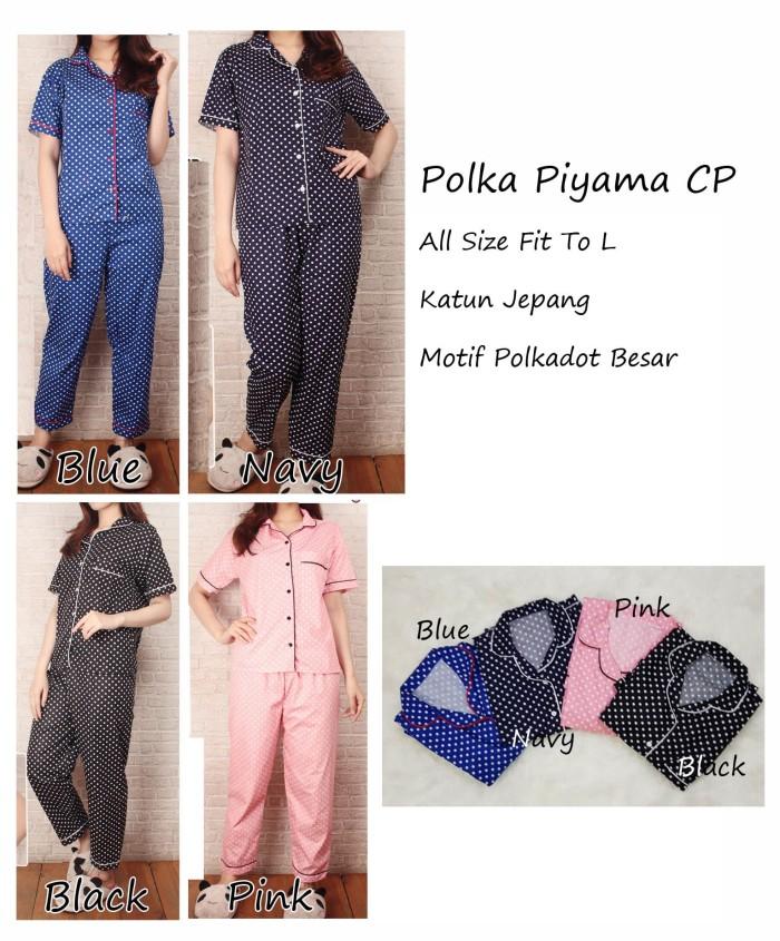 harga Piyama polkadot celana panjang - pajamas wanita dewasa - baju tidur wa Tokopedia.com