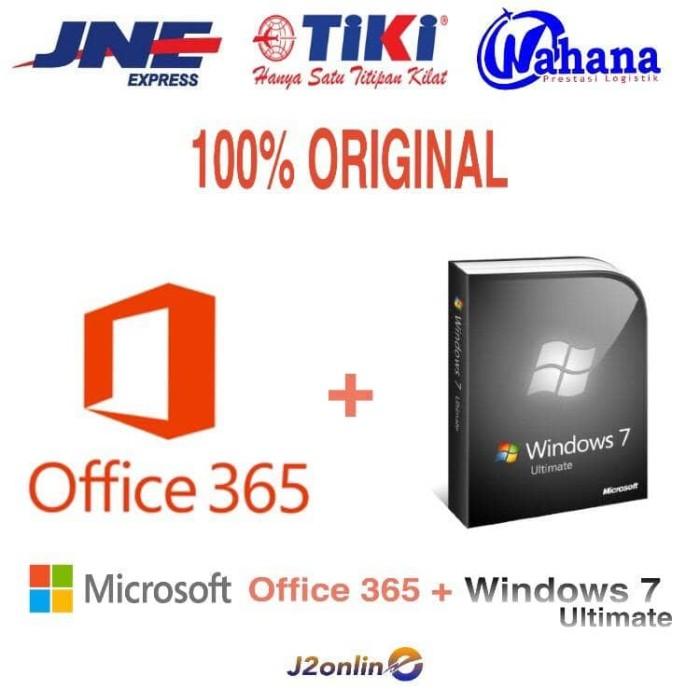 harga Lisensi Paket Windows 7 Ultimate Dan Office 365 + 1 Tb - Original Tokopedia.com