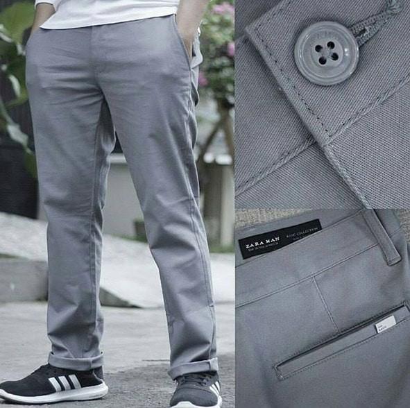 harga Chinos pants zara men basic original / celana chino pria ori branded Tokopedia.com