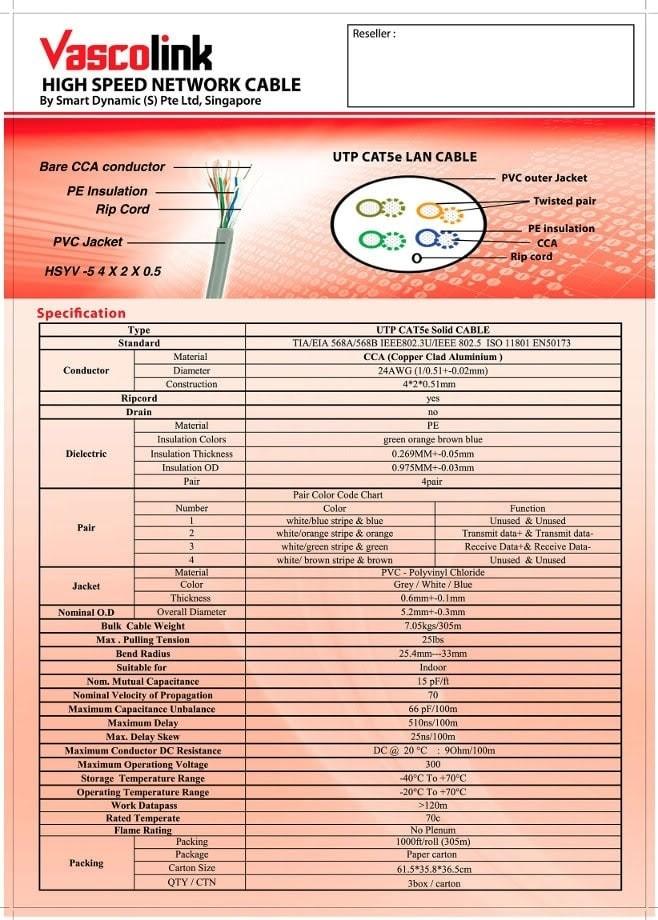 Jual Murah Vascolink Utp Cable Cat5e Cca Kabel Lan Cat5e 305m Jakarta Barat Shet Store Tokopedia