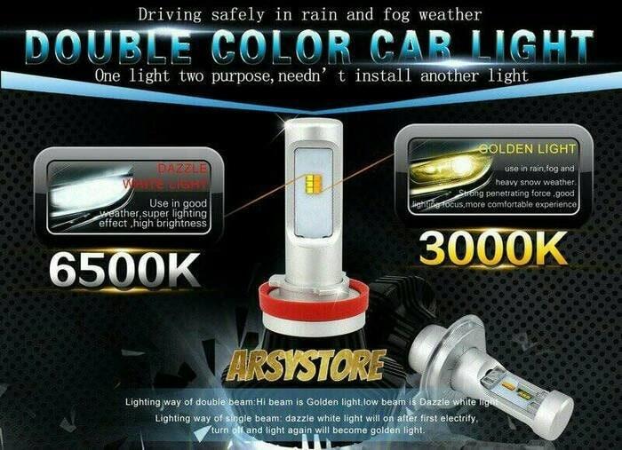 Jual Lampu Led Foglamp Kabut 7hl Dua Warna H8 H11 H16 Philips Putih Kuning Jakarta Pusat Nero Auto Tokopedia