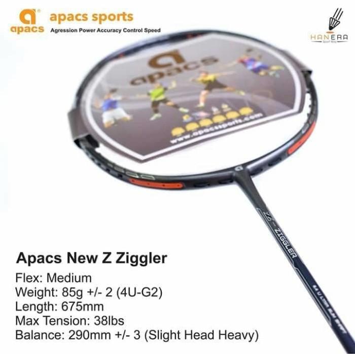 harga Raket badminton apacs z zigler ! tarikan bs sampai 38lbs  100% ori Tokopedia.com