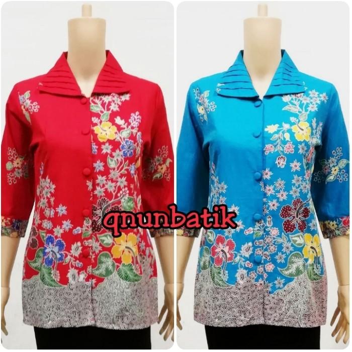 harga Blouse blus batik wanita m-xl vania bunga Tokopedia.com