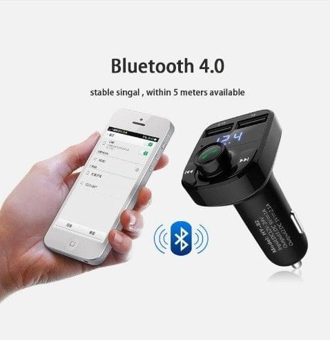 harga Charger mobil bluetooth fm transmitter audio digital display carx8 new Tokopedia.com
