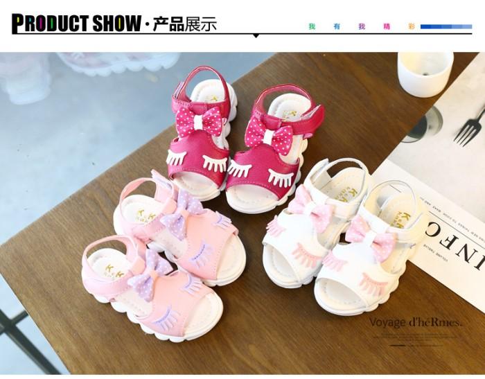 harga Sepatu sandal anak bayi perempuan cewe lucu import bulu mata