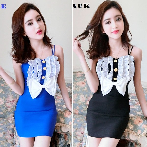 Jual Jes Sb0588 Mini Dress Bodycon Sexy Import Korea Baju Gaun Seksi Wanita Kota Batam Jessica Collections Tokopedia