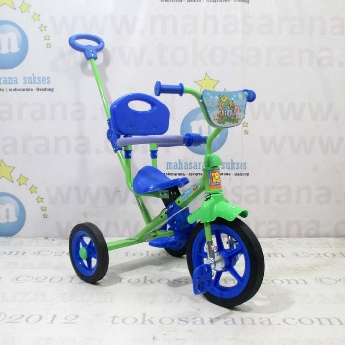 harga Pmb 921 safari bmx tricycle with safety bar and rod steering green Tokopedia.com