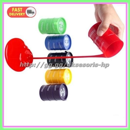 Barrel Slime 1 PCS (RANDOM COLOR) Multi-Color