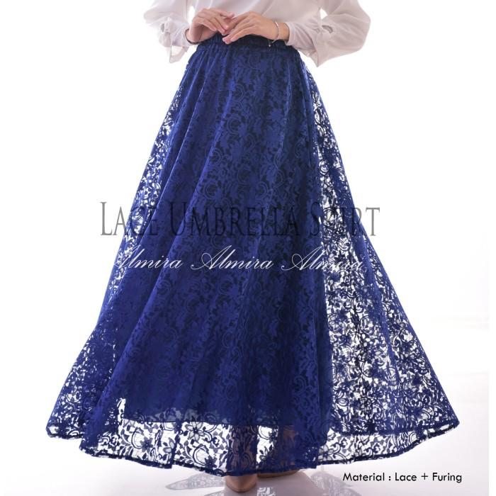 Rok Panjang Modern Murah Lace Umbrella Skirt