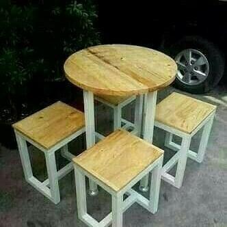 Jual Meja Kursi Cafe 1 Set Coffee Table Meja Kursi Resto Kota Tangerang Selatan Chugbog Craft Tokopedia