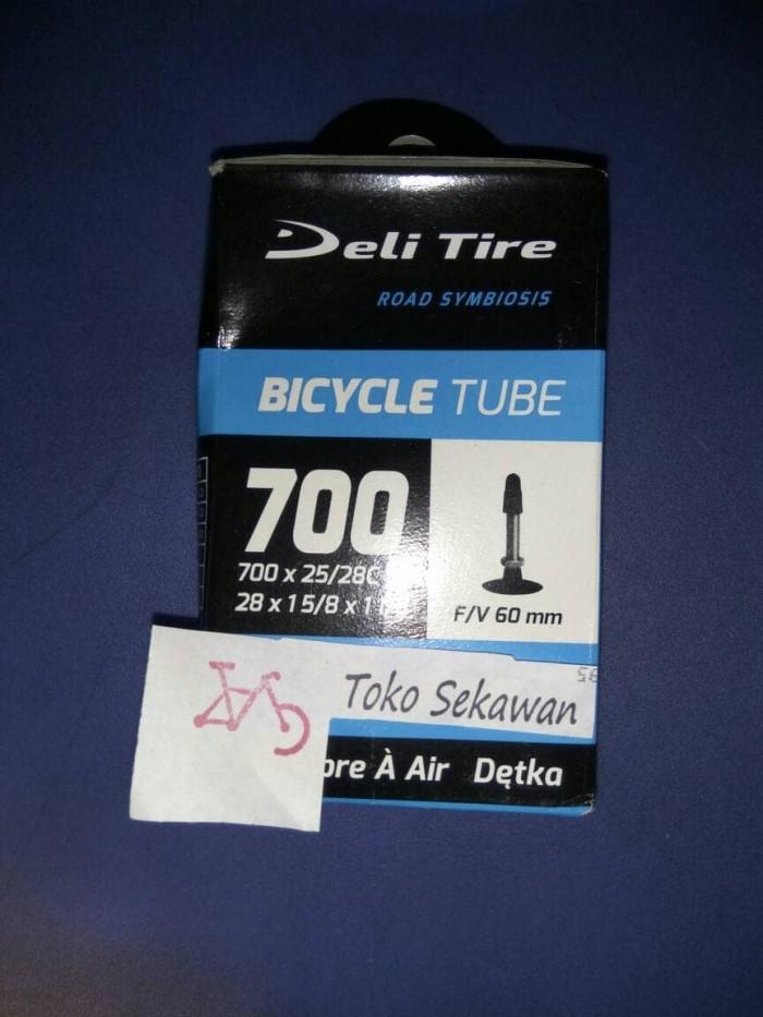 harga 700 x 25/28c  28 x 1 5/8 x 1 2/8 ban dalam sepeda fixie deli f/v 60 m Tokopedia.com