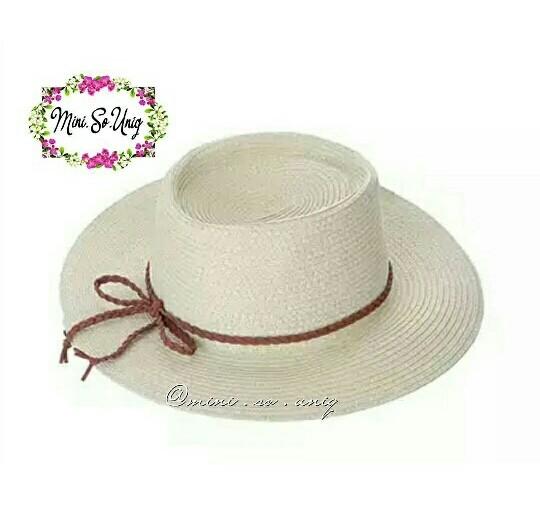 36049b0c37f Jual Sweet Bow Straw Beach Hat Miniso - mini.so.uniq