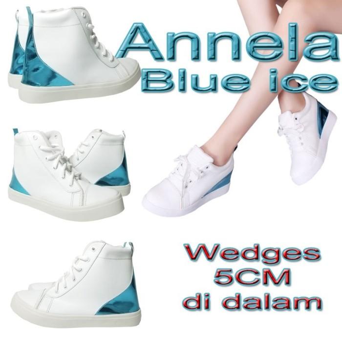 harga Sale Shoes K11s6 Annela Blue Ice Hidden Wedges Sneakers W Lokal Import G5v0 Blanja.com