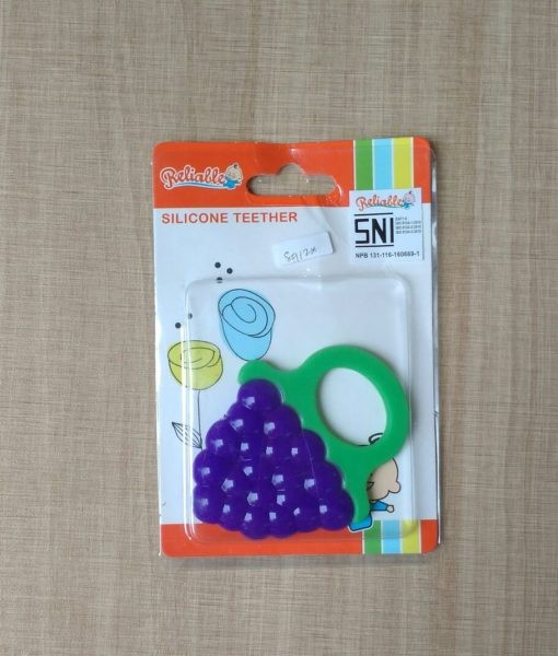Mainan gigitan bayi reliable silicone teether grape