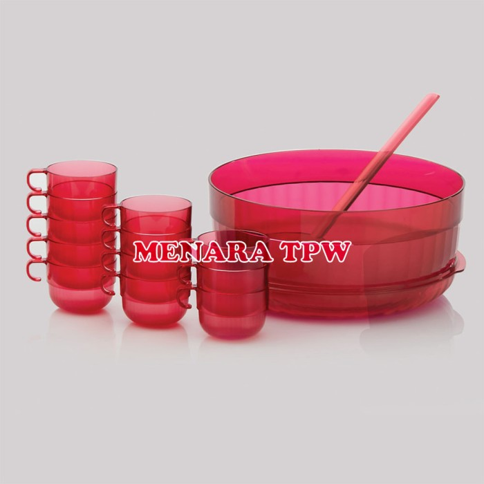 harga Tupperware Watercolor Bowl With Ladle & Watercolor Cup (12pcs) Activit Tokopedia.com