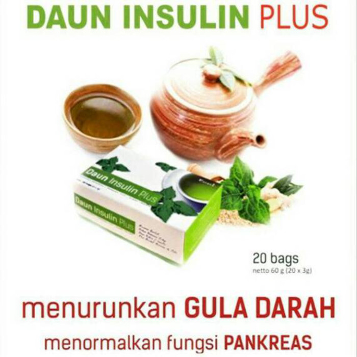 Teh Daun Insulin Plus / Teh YAKON menurunkan GULA DARAH