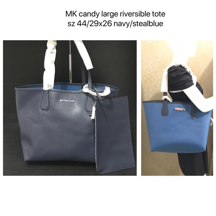 e0fee3621f7d Jual Tas Michael Kors original - Mk candy large reversible tote navy ...