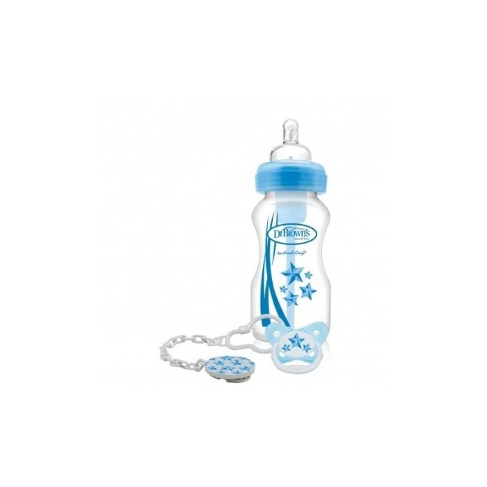 Jual Wide-Neck  Options  Bottle + Soother Gift Set – Blue – Pink Harga Promo Terbaru