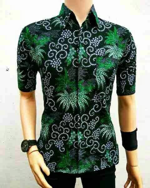 harga Hem batik/kemeja batik mekar bunga Tokopedia.com
