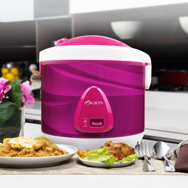 Kirin rice cooker 2.0 liter | krc-138 non-stick - magenta