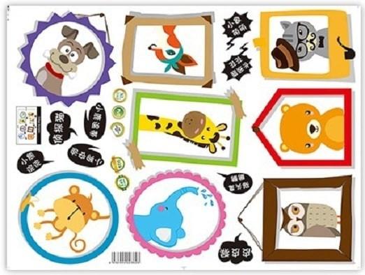 Foto Produk Set Stiker Dekorasi Dinding Motif Bingkai Foto Kartun H Diskon dari Perkakas Anda