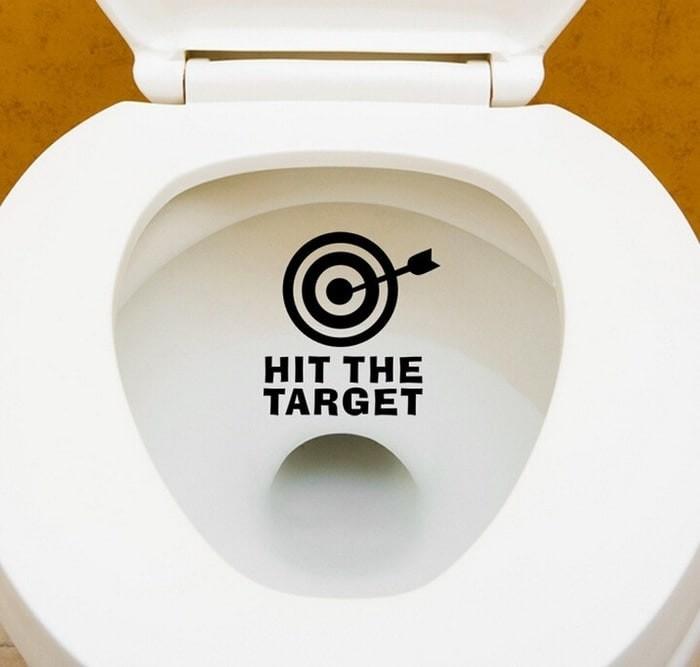"""Foto Produk Stiker Dinding / Kloset Duduk Motif """"Hit the Target"""" Murah dari Perkakas Anda"""