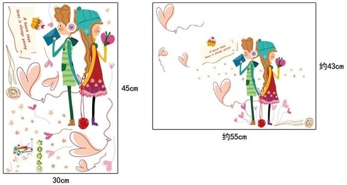 Foto Produk Set Stiker Dekorasi Dinding Motif Cinta Remaja di Musim Limited dari Perkakas Anda