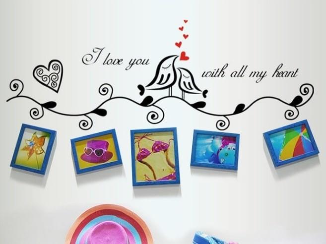 Foto Produk Set Stiker Dekorasi Dinding Motif Sepasang Burung Cinta Diskon dari Perkakas Anda