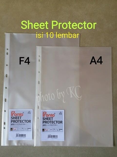 Foto Produk ATK0061 (F4-10lembar) Sheet Protector Pronto Plastik Pelindung File dari rizatoolskid