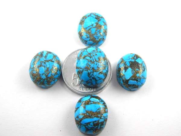 Foto Produk P8202 Batu Pirus Serat Emas (JUMBO) / Natural Turquoise dari Bungas Gemstone