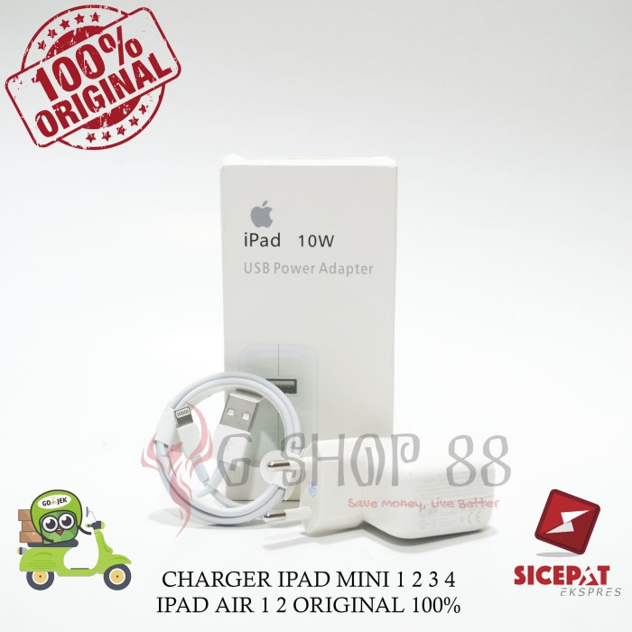 harga Charger ipad mini 1 2 3 4 ipad air 1 2 original 100% Tokopedia.com