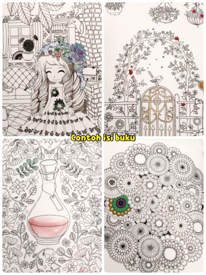 Jual Colouring Relaxation Book Buku Mewarnai Fancy Gambar Hitam